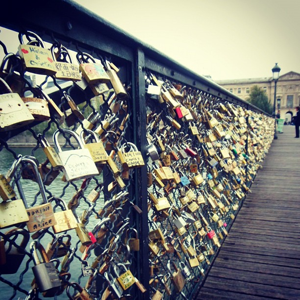 Bonjour! Paris love locks.