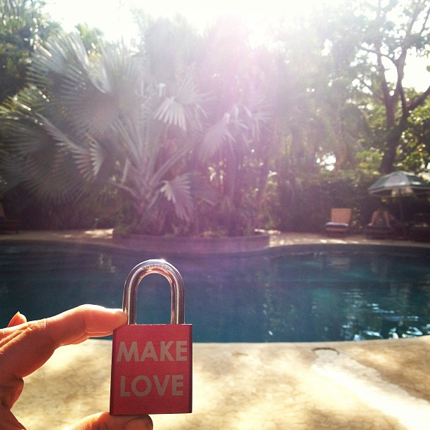 Make Love #makelovelocks #lovelocks #love #luv #palmtrees #paradise #adultswim #costarica #nosara