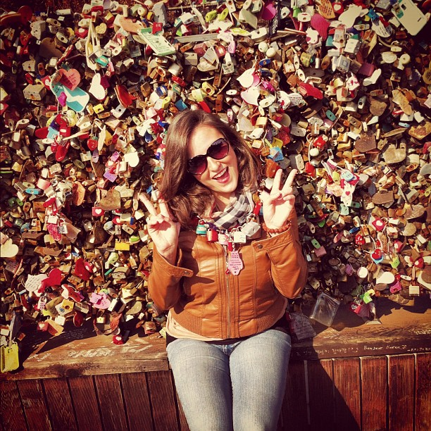 Lotsa #lovelocks at #namsantower in #Seoul. #Love #Korea #sightseeing  and taking all the #cheesy #tourist #photoops I can get. #instafun