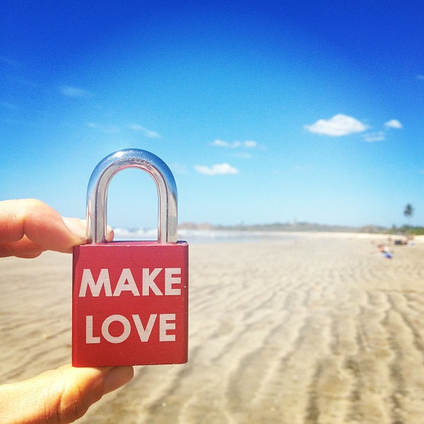 Make Love #makelovelocks #love #lovelocks #luv #beach #costarica #untilnexttime #