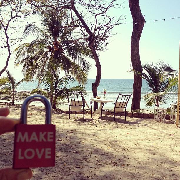 Make Love #makelovelocks #love #lovelocks #luv #costarica #beach #breakie