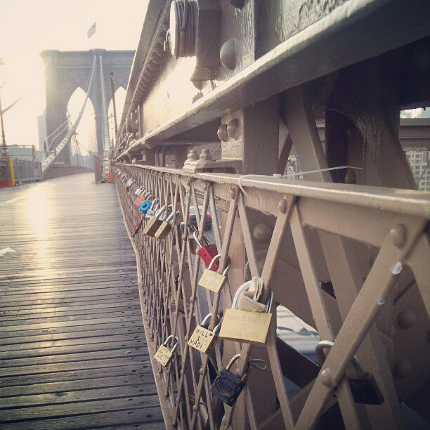 The path of locks to love #brooklynbridge #remember #locks