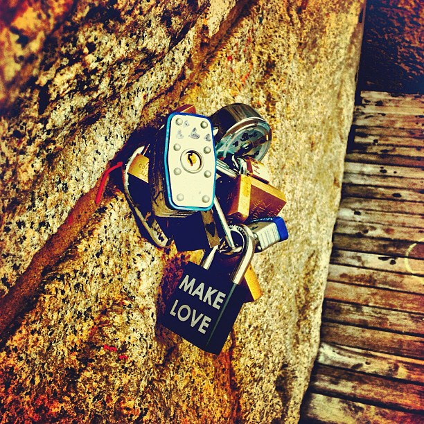More Brooklyn Bridge love locks.