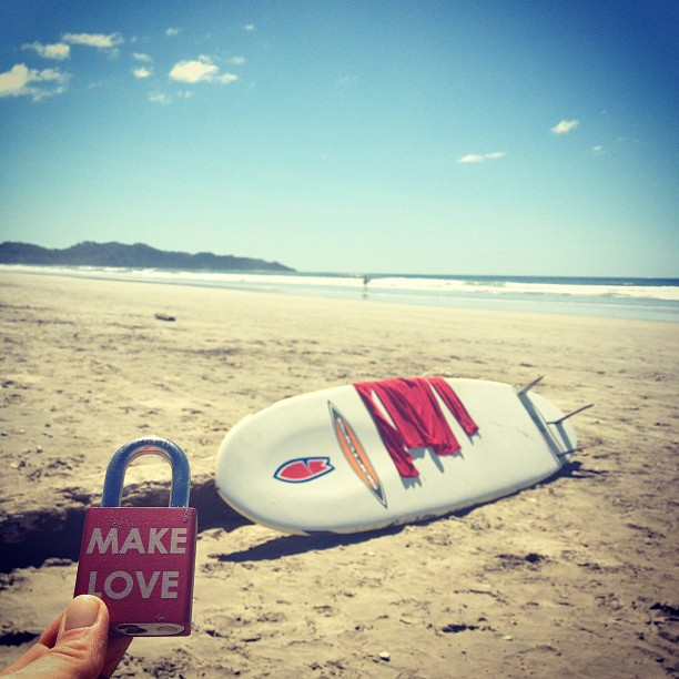 #makelovelocks #love #lovelocks #luv #surf #surfnosara #costarica #nosara