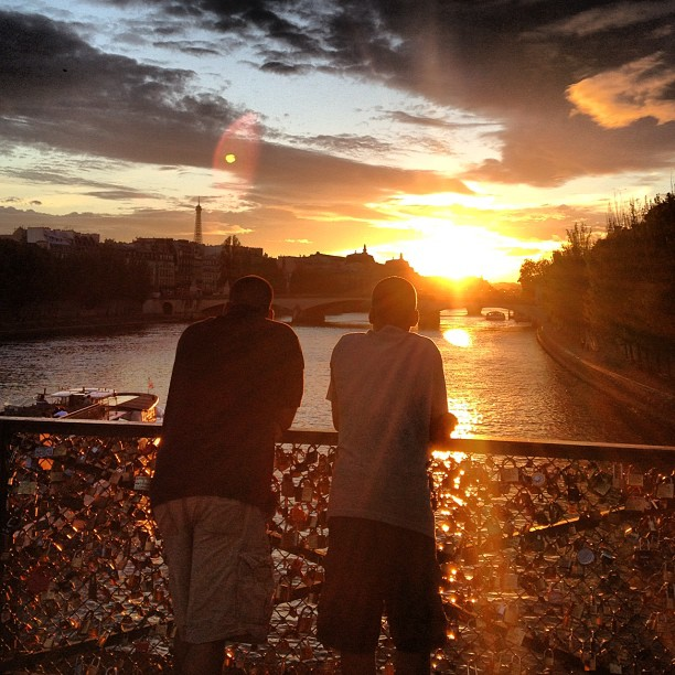 My 2 men overlooking the Seine