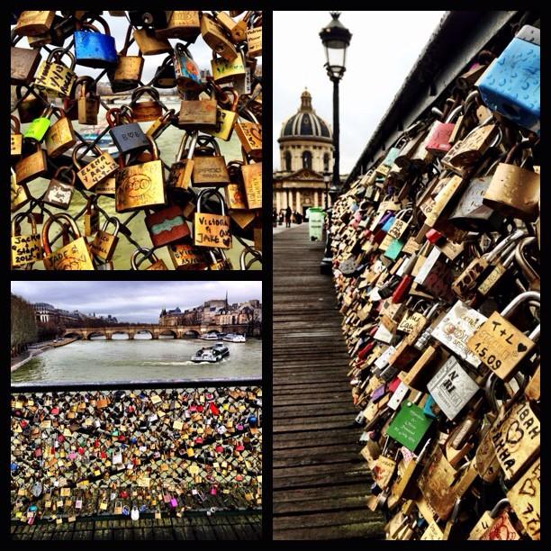 #paris #france #lovelocks #bridge #river