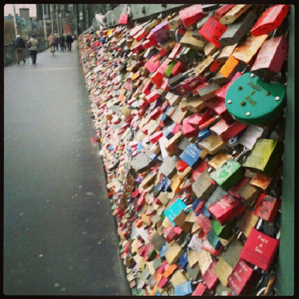 Love lock bridge. #Germany #lovelocks