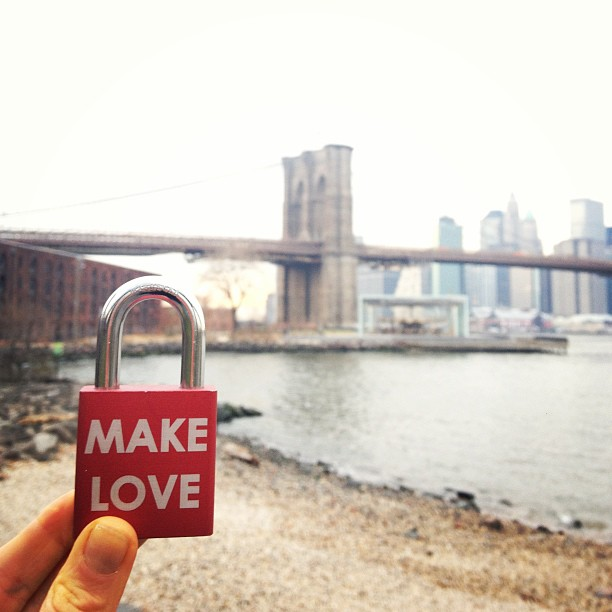 Make Love http://makelovelocks.com/ #makelovelocks #brooklyn #love #luv #lovelocks