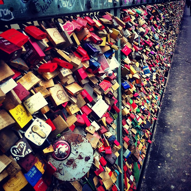 #lovelocks #love #germany #cologne #hohenzollernbrucke #travel #romatic