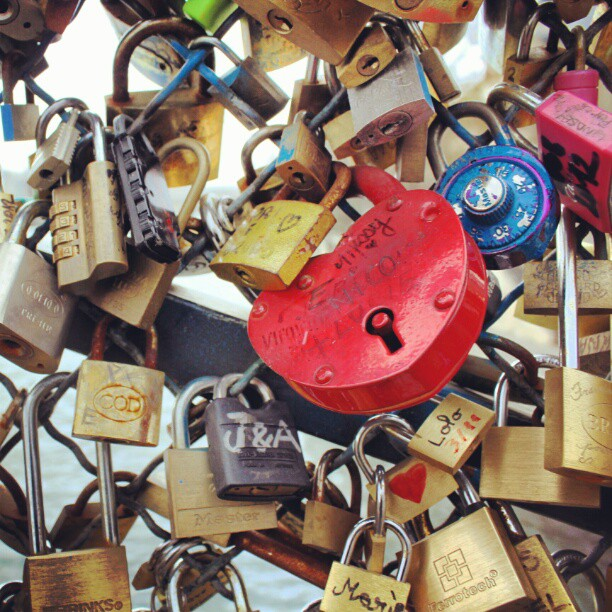 #paris#france#love#lovelocks#bridge#november