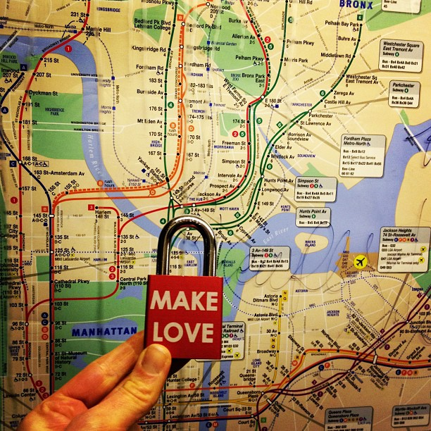 Make Love #makelovelocks #lovelocks #makelove #love #luv #mta #subway #ilovenyc #i