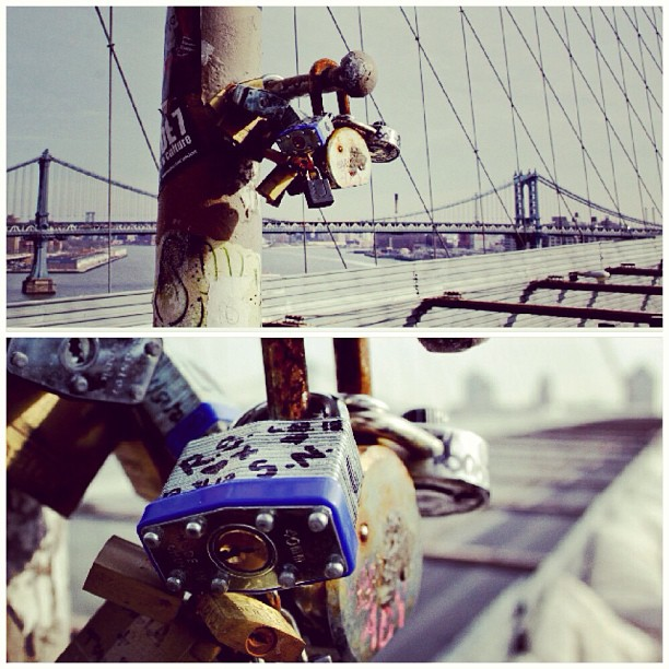 #LoveLocks #BrooklynBridge #MakeLoveLocks