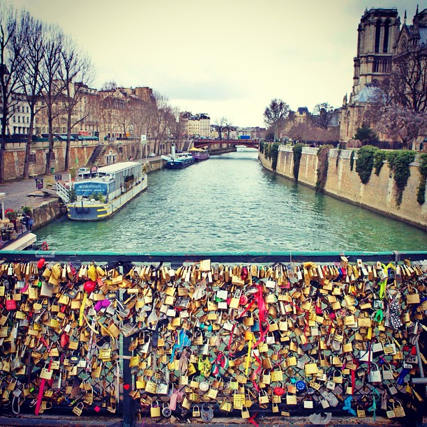 #paris #france #travelphotography #travel #lovelocks #padlocks #canal