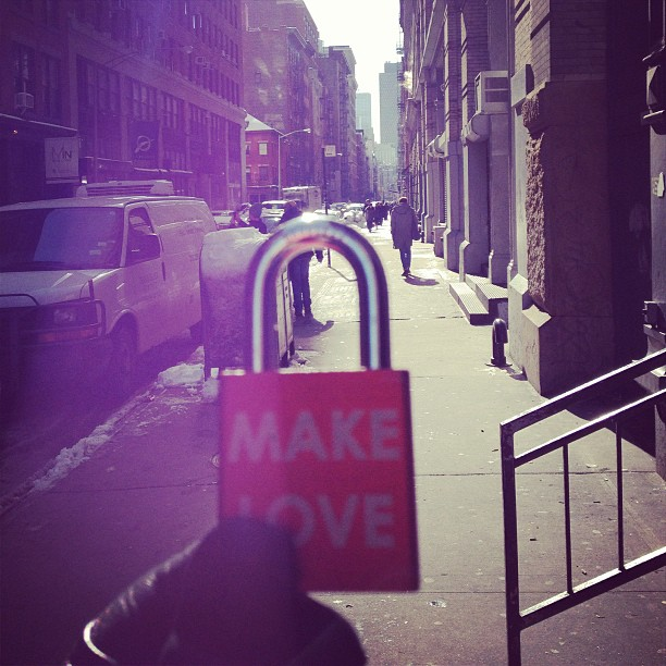 Make Love #makelovelocks #makelove #lovelocks  #love #luv #soho #nyc #ohmrsun #lettherebelight