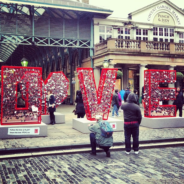 All you need is ... Love !  #love#padlocks#coventgarden#red#shiny#pretty#london#sweet#cute#heart
