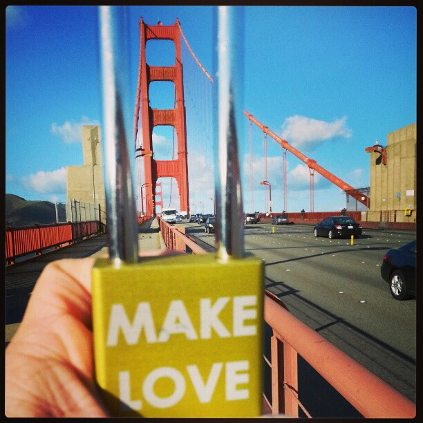 #makelovelocks #goldengate #49ers #superbowl #sanfrancisco #calilove