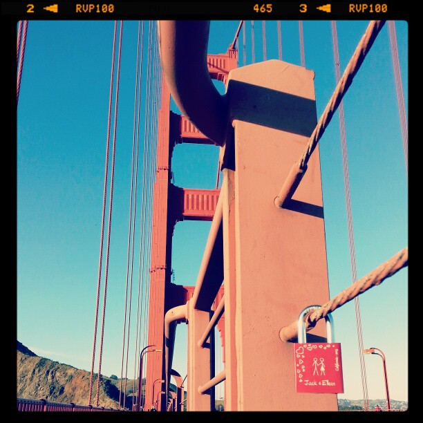 First.<br /> #lovelocks #makelovelocks #sanfrancisco #goldengate