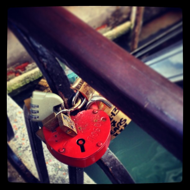 He's got my heart on lock... #instaitalia #love #locket #lock #padlock #venice #venezia #italy #valentinesday #holiday #getaway #surprise