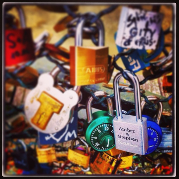 We pledged #ourlove in #Paris #lovelocks #HimNHer