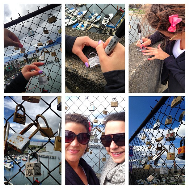 #lovelocks #burrardstbridge #dt #vancouver #missyaims #love #friends #dayoff #loveyou #sweeety #throwawaythekey @atits