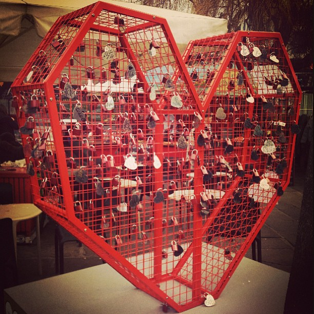 Love locks at Camden Market</p> <span class=