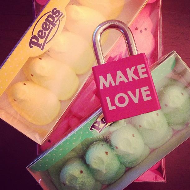 Make Love #makelove #makelovelocks #love #lovelocks #luv #easter #peeps #eastercandy #memories #family #kids #spring #instamood