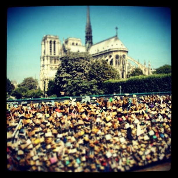 @nursemoon - there you go. #lovelocks #bridge #paris #love #eternity