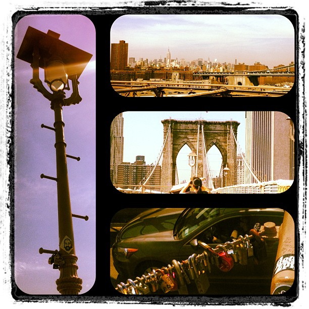 #brooklyn #bridge #nyc #lovelocks #skyline #suspensionbridge #archinerd #1868 #1954reconstruction