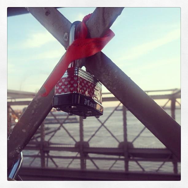 Our #lovelock on #brooklynbridge  </p> <span class=