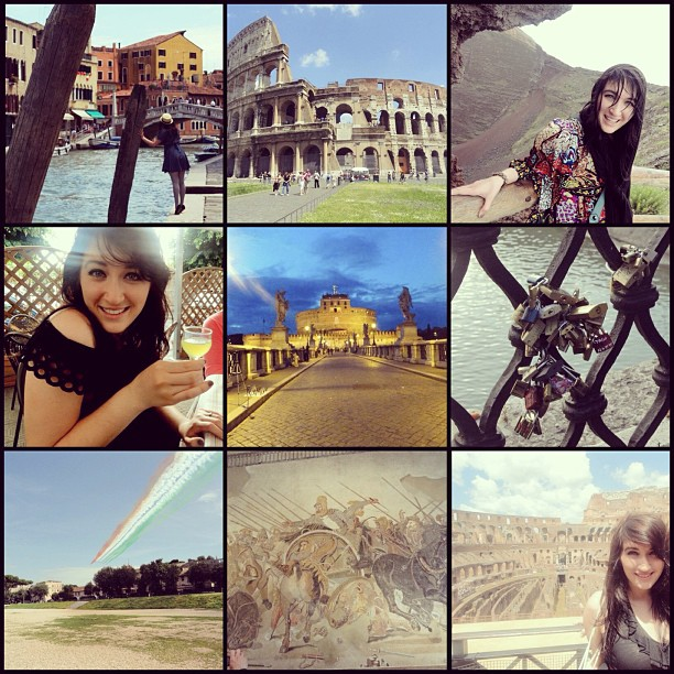 I left my heart in Italy. #tbt #venice #thecolosseum #mtvesuvius #sorrento #castelsantangelo #lovelocks #thealexandermosaic