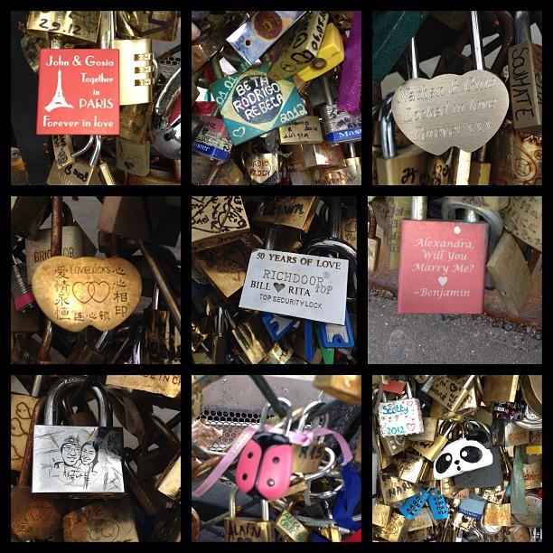 Love Locks in Paris #lovelocks #love #bridge #paris #france