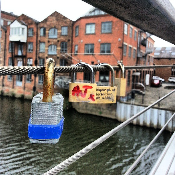 Love locks Leeds.