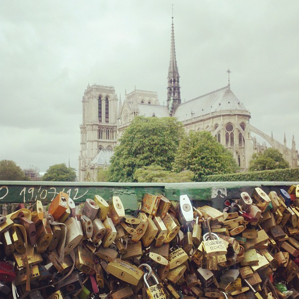 My wanderings today took me past some love locks.