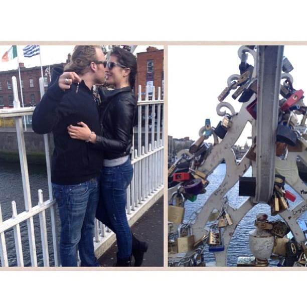 Ha'penny Bridge, Dublin #lovelocks #Ireland @jeffreybreeze