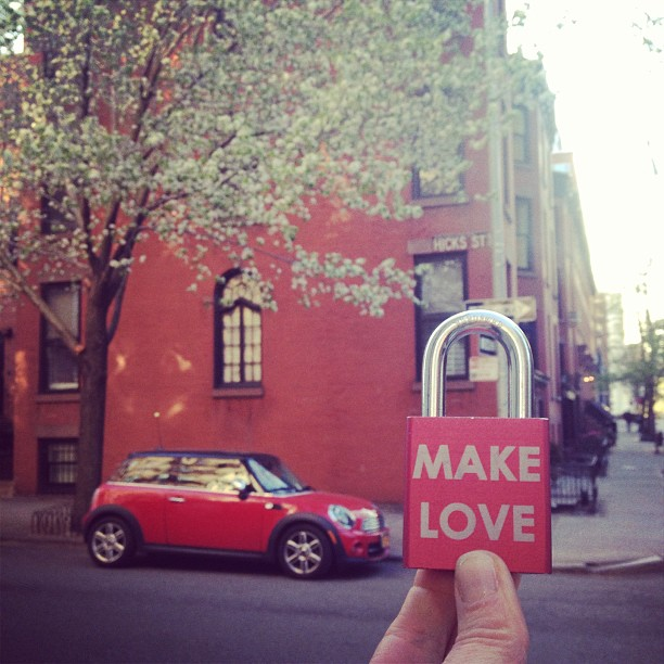 Little #red #house to go with our little red #car to go with our little red #lovelock to go #away and #make some #memories #love #makelovelocks #life #love #heart #minicooper #spring #wedding #getaway #moments #matchymatchy #instamood #instagood #vacation #weekday #adventure #travel #brooklyn #newyorkcity #nyc