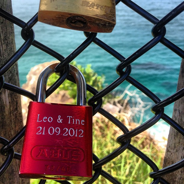 Love locks #capebyron #byronbay #nsw #australia #seeaustralia #instaphoto #lovelocks #travel #travelgram #instatravel #mytravelgram #mtgelite #travelphoto #love #coast #ocean #sea #blue