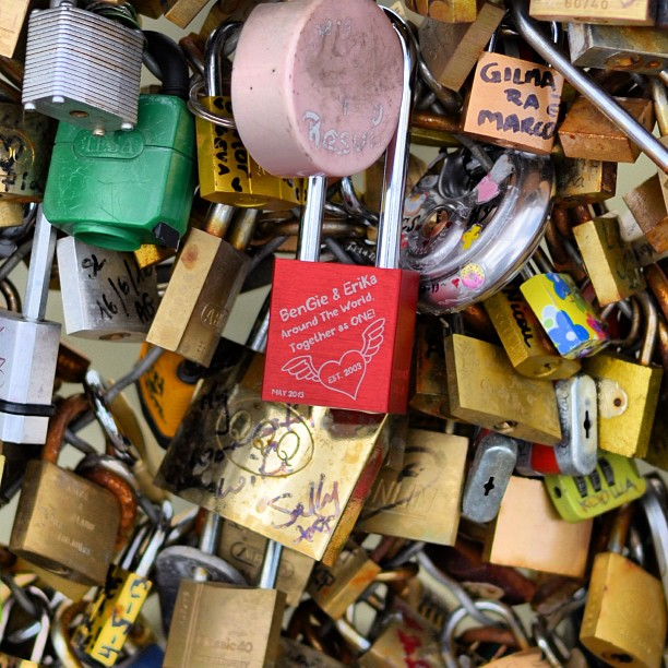 Pont Des Arts #makelovelocks #paris #pontdesarts #vacations #europe #france