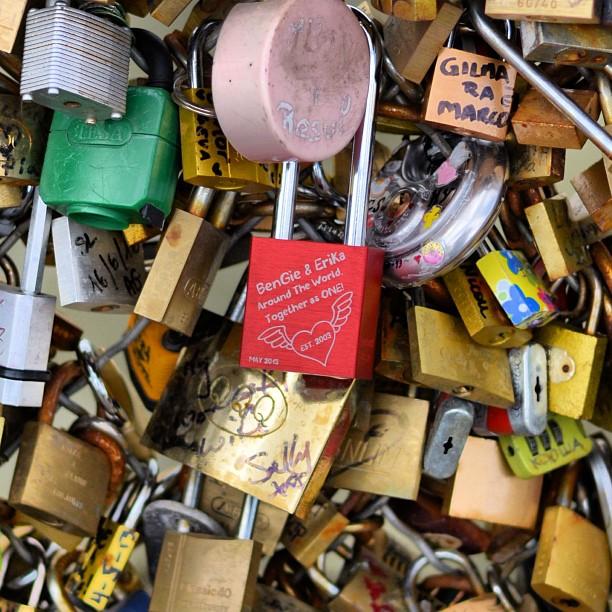 Pont Des Arts #makelovelocks #paris #pontdesarts #vacations #europe #france