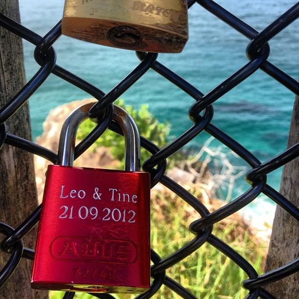 Love locks #capebyron #byronbay #nsw #australia #seeaustralia #instaphoto #lovelocks #travel #travelgram #instatravel #mytravelgram #mtgelite #travelphoto #love #coast #ocean #sea #blue