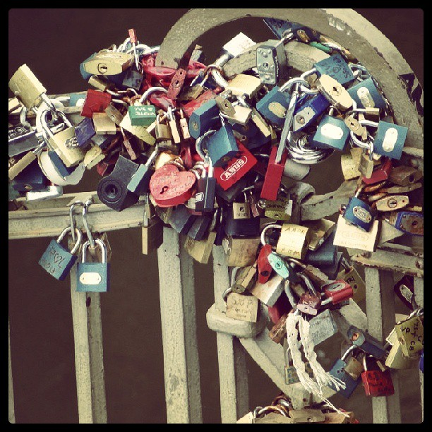 Zámky na Kampě, Praha #padlock #heart #fence #so #much #love #in #one #place #prague #colors #sunday