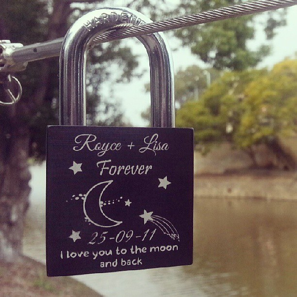 So happy with how our lock turned out xD #makelovelocks #lovelock
