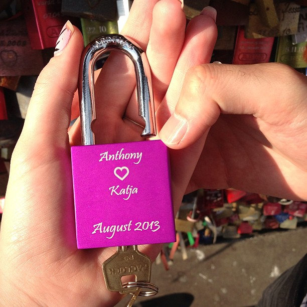 Put a lock on the fence with Anthony #köln #cologne #germany #love