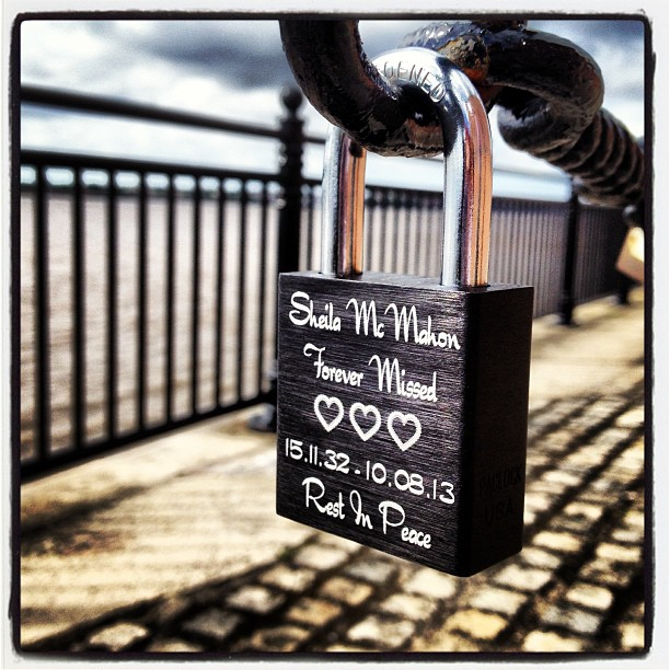 For my beautiful Nan  #lovelock #liverpool #forevermissed