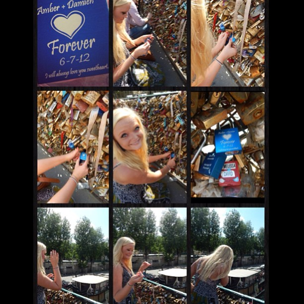 The most incredible thing anyone has ever done for me  #paris #lockbridge #notredame #lovelock #makelovelocks #boyfriend #bestfriend #forever #love #amazing #incredible #lovehim #thebest #sosweet #crying #france #missedhim #bestboyfriendever #mylove #happy #keys #locked #blue #heart #loveyou #sunny #wannagoback @damienslike