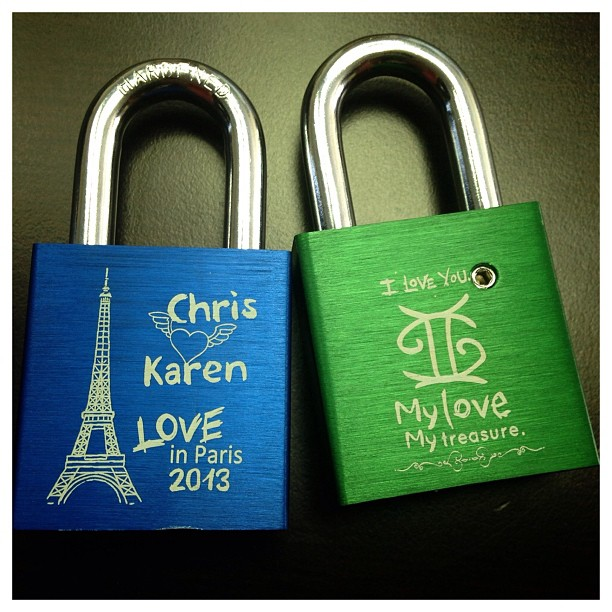 Yay! Love getting mail. From #MakeLoveLocks.  Can't wait to lock our Locks in #Paris at #PontdesArts bridgr. Excited to go to Paris next week!  @chrischin84
