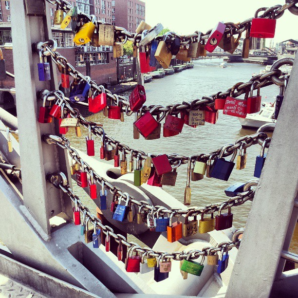 #hamburg #bridge #locks #lovelock #padlocks #lovepadlocks