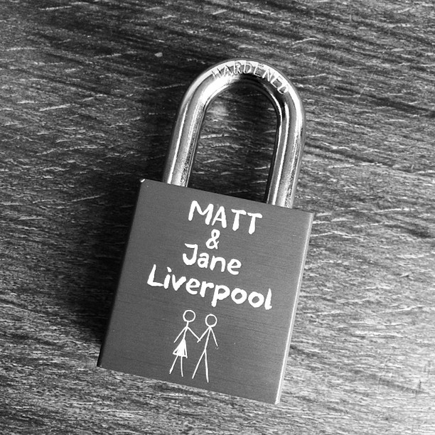 We are now ready for our trip to Venice thanks to the guys at Make Love Locks in the USA ! #makelovelocks #lovelocks #venice #holiday #trip #birthday #love #padlock #birthday #liverpool