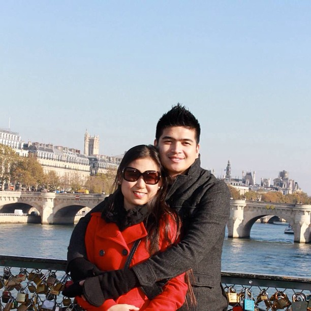 Me and my beautiful wife in #paris #fall2012