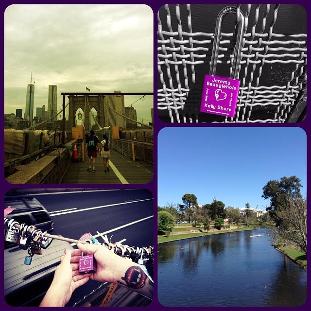 Love lock number 2 at the River Torrens University Bridge Adelaide #makelovelocks #unibridge #torrens #popeye #radelaide #brooklynbridge #nyc  </p> <span class=
