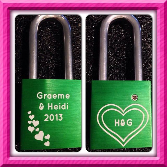 Our #MakeLoveLocks padlock ready for